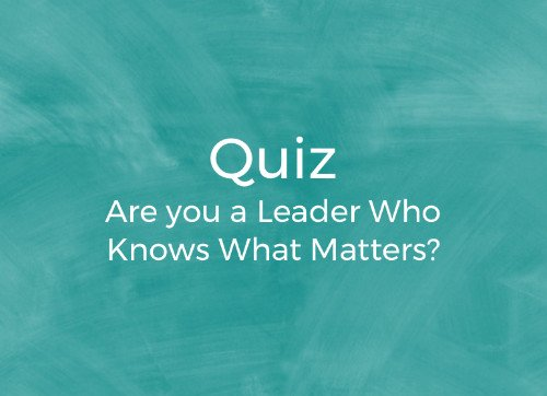 Take the What Matters Quiz