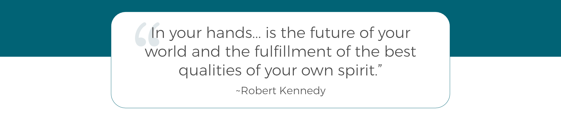 About David - Robert Kennedy Quote